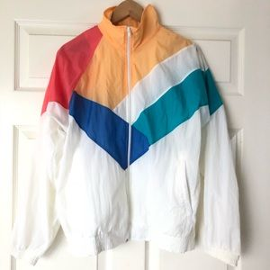 ⭐️ AWESOME 90s Official Olympic Pastel Windbreaker